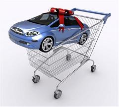 Car in shopping cart